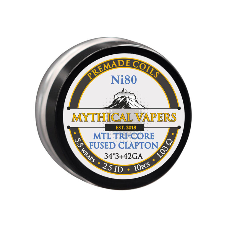 MTL Tri-core Fused Clapton Premade Coils by Mythical Vapers TrustVape